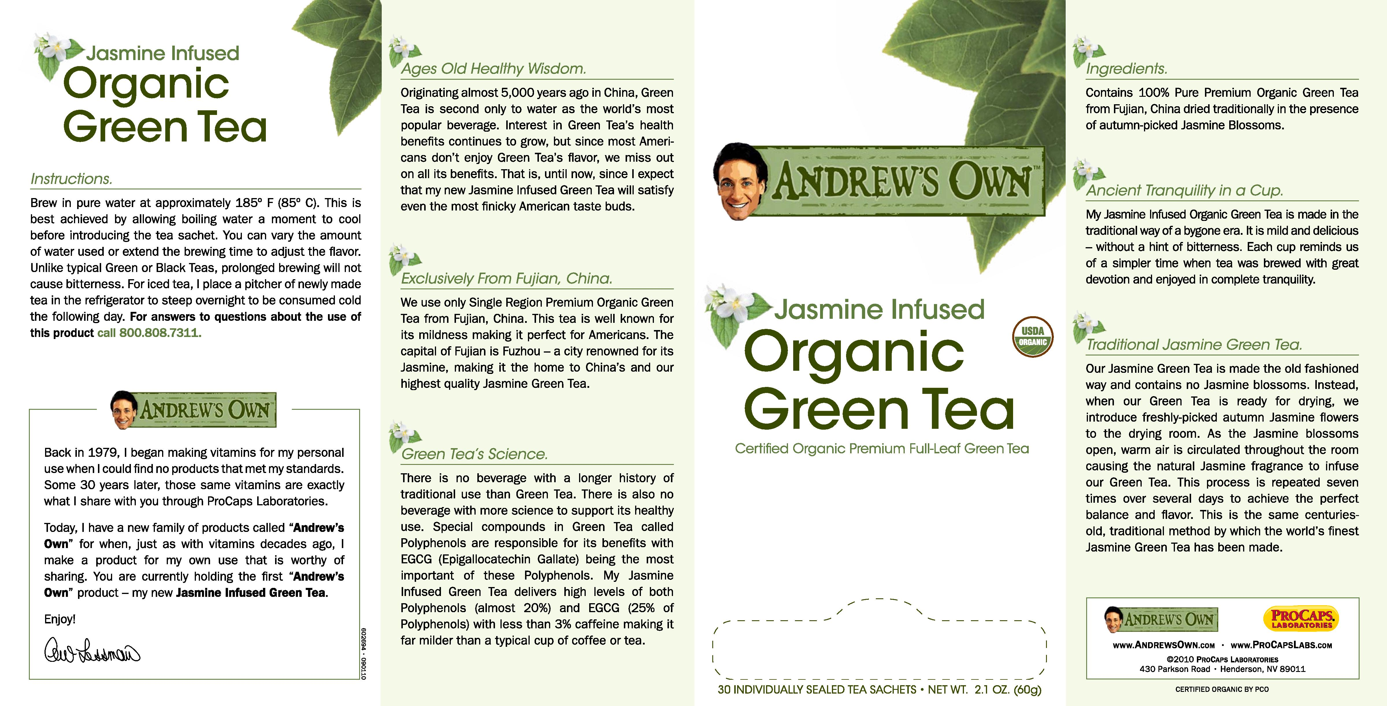 Andrew's Own Jasmine Infused Organic Green Tea at HSN.