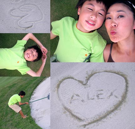Wei with her son, Alex
