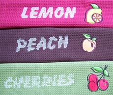 Embroidery patterns for kitchen towels