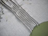 Sew a ½ inch pleat on every seam