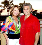 Wearing Nautical print and thinking spring with my husband, Carlos!