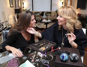 At my office in Manhattan, we tested the wear ability of each jewel by trying on everything…we both love the jewelry so this could have been our best day ever!