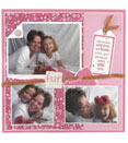 Scrapbook page example, mother and daughter