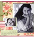 Scrapbook page example, birthday