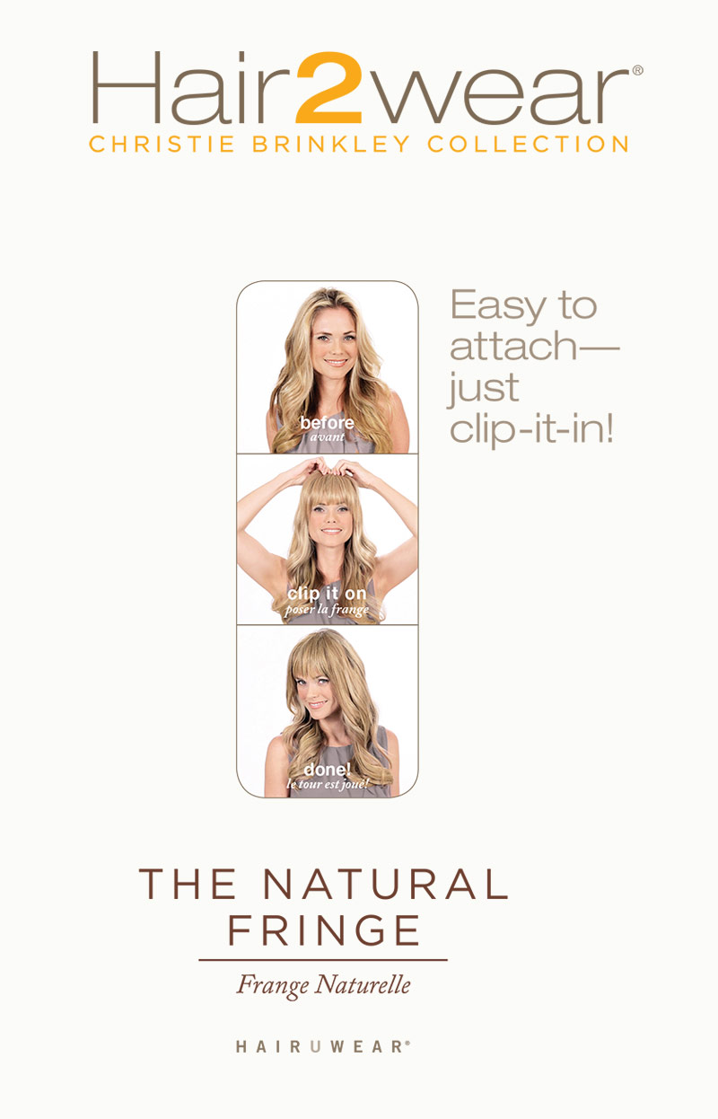 Hair2wear The Christie Brinkley Collection The Natural Fringe Bangs