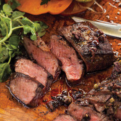 Grilled Flat Iron Steaks