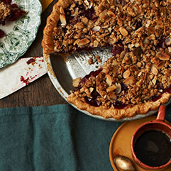 cherry-bourbon pie