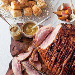 Ham with Riesling and Mustard