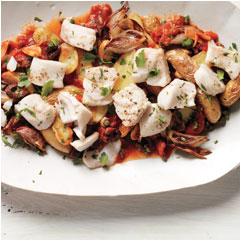 Roasted Potatoes and Haddock Puttanesca