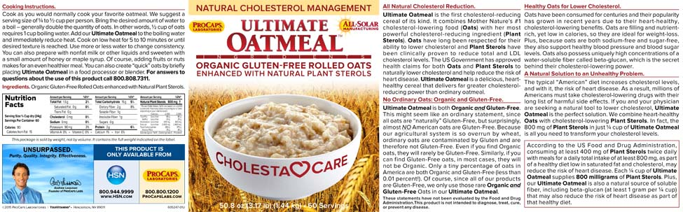 Ultimate Oatmeal  10070201  HSN