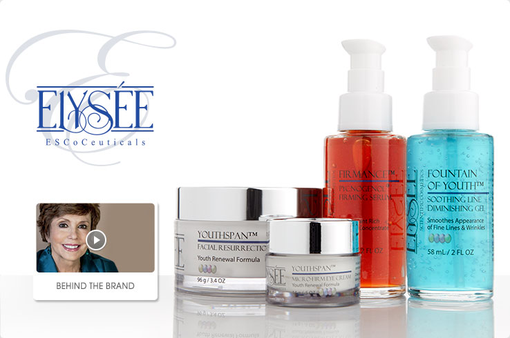 Elysee ESCoCeuticals youthful skincare products. Behind the Brand video