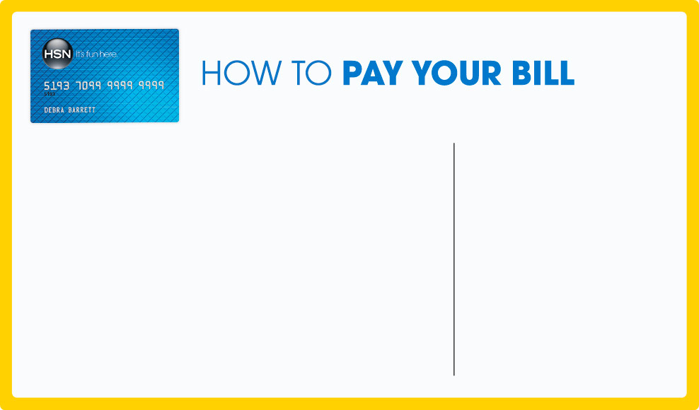 Hsn Credit Card  How To Pay Your Bill